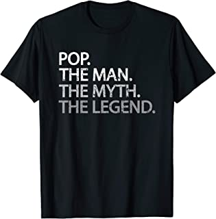 Cool Father, Dad & Grandpa Shirt - Pop The Man The Myth Tees