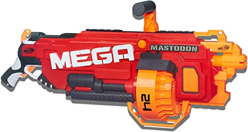 Nerf Mega Mastodon Motorised Blaster inc 24 official Mega Darts - Toys for Kids and Outdoor games - Ages 8+