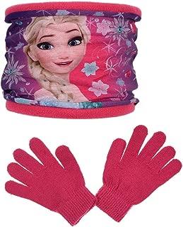 Frozen Die Eisk/önigin Kollektion 2017 M/ütze Handschuhe und Schal One Size 5-8 Jahre Anna und ELSA Mehrfarbig Darkrosa Lila One Size 5-8 Jahre, Darkrosa Lila