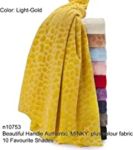 Neotrims Minky MINKIE Plush Velour Cuddle Fabric, Velour Soft For Photography & Crafts. 10 Fashion Colours, Medium Weight with Great Drape, Beautiful Cuddly Handle. Velvet Plush Pile for garments.
