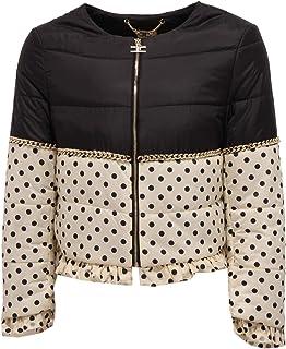 Elisabetta Franchi 1411Z Giubbotto Bimba Girl Black/Ivory Jacket
