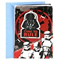 Hallmark Birthday Greeting Card for Kids (Star Wars Darth Vader Backpack Clip)