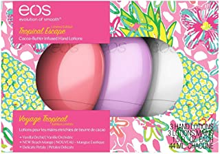 EOS Hand Lotion | Tropical Escape Collection | Limited Edition | 3 Pack | Beach Mango, Delicate Petals, and Vanilla OrchidNew Spring 2019