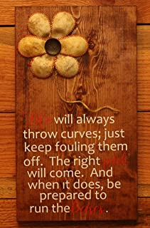 CELYCASY Life Will Always Throw Curves Sign Wood Sign Home Decor