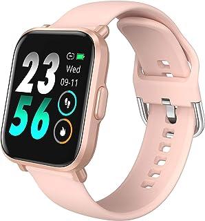 HolyHigh Smartwatch Fitness Pantalla Táctil Reloj Inteligente Fitness con Ritmo Cardíaco & Monitor de Sueño Cronómetro Pod...