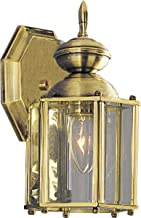 Progress Lighting P5756-10 Wall Lantern with Beveled Glass Panels Open Bottom, Polished Brass