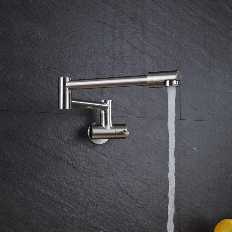 Bijjaladeva Wasserhahn Bad Wasserfall Mischbatterie Waschbecken Armatur für Das Kupfer in die Wand Falten Single Kalte Küche Leitungswasser Badewanne Balkon einziehbaren Schwenken