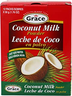 Grace Dry Coconut Milk Powder - 12 pack - No Preservatives No Refrigeration - Just Add Water - Milk Substitute - Coffee Cr...