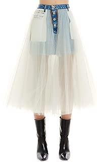 UNRAVEL PROJECT Luxury Fashion Womens UWYF014R20DEN0024500 White Skirt |