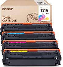 ZIPRINT Remanufactured Toner Cartridge Replacement for HP 131A CF210A 131 CF210 for Laserjet Pro 200 Color M251n M251nw MFP M276n M276nw Printer, 4-Pack