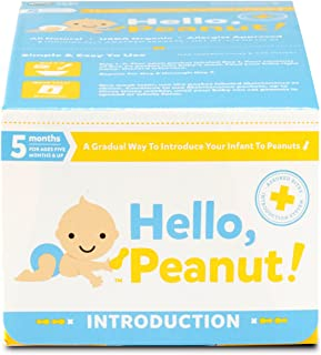 Hello, Peanut! Introduction System for A Gradual Way to Introduce Your Infant to Peanuts, 7 Day System, Allergist Approved, All Natural, USDA Organic, Simple to Use (8 Packets)