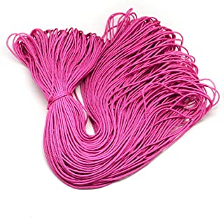 PH PandaHall 100m 2mm Parachute Rope Paracord Polyester Ropes Spandex Accessory Cord Climbing Rope Multipurpose for Bracel...