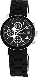 Herzog & Söhne HS402-122 women's quartz Watch with black Dial chronograph Display and black stainless steel Bracelet HS402...
