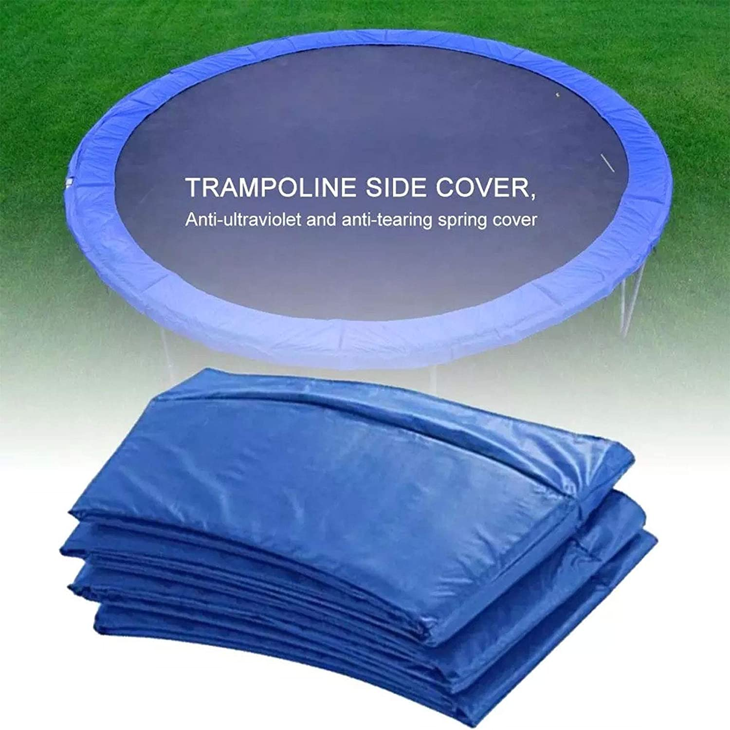 Waterproof Trampoline Accessories Spring Cover,6 feet 1.83m 8ft 10ft 12ft 14ft 15ft 16ft Trampoline Replacement Safety Pad Trampoline Pad No Holes for Pole