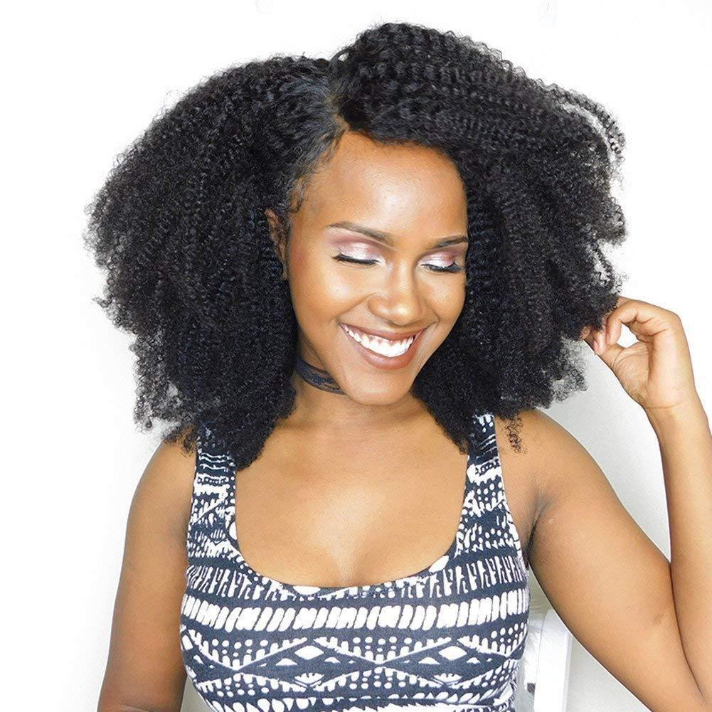 Unprocessed Virgin Mongolian Afro Kinky Bundl 最新号掲載アイテム 3 Human Hair Curly 出色