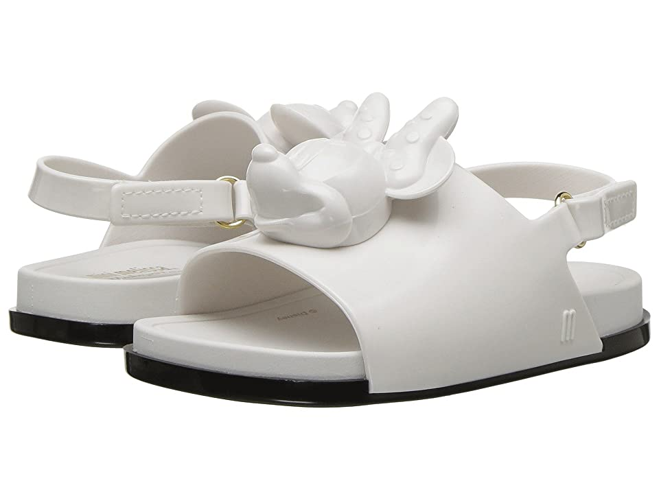 Mini Melissa Mini Beach Slide Sandal + Disney (Toddler/Little Kid) (White/Black) Girls Shoes