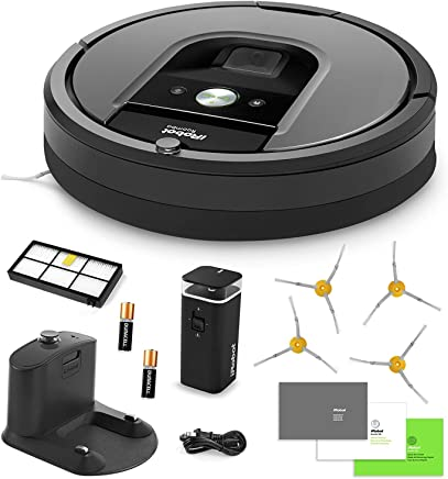 iRobot Roomba 960 Vacuum Cleaning Robot + Dual Mode Virtual Wall Barrier (with Batteries)