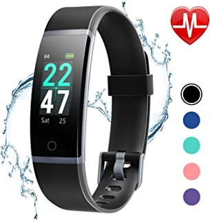 LETSCOM Fitness Tracker with Heart Rate Monitor, Color...
