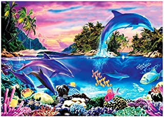 Shayee Jigsaw Puzzle 1000 Piece for Teen Adult - Dolphin Bay - DIY Jigsaw Puzzles Cool and Challenge Stress Relief Game