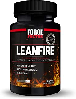 LeanFire Thermogenic Pre Workout and Fat Burner with Green Tea Extract to Increase Energy, Boost Metabolism, Burn Fat, Bui...