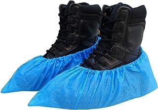 Ohana 1st 使い捨てシューズカバー 100枚入(50足) 使い捨て靴カバー 滑り止め 防水 厚くて丈夫 フリーサイズ 男女兼用 ほとんどのサイズに適合 最大29サイズ