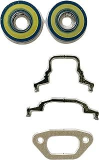 EngineRun Chainsaw Cylinder Gasket and Crankshaft Seal kit (5 PCS Set) fits for Husqvarna 455 455E 455 Rancher 460 465 Jonsered 2255 Chainsaw OEM 537245702 537 24 57-01