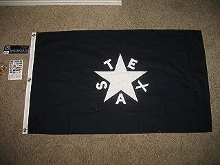 Embroidered Sewn Republic Of Texas Lorenzo De Zavala Flag Cotton 3X5 Grommets