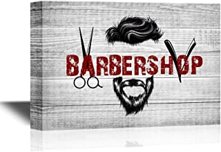 wall26 - Hair Style Canvas Wall Art - Cool Barbershop Concept - Gallery Wrap Barber Shop Wall Decoration | Ready to Hang - 24x36 inches