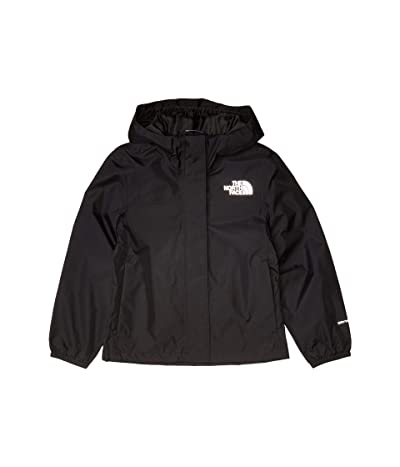 The North Face Kids Resolve Rain Jacket (Little Kids/Big Kids) (TNF Black) Girl