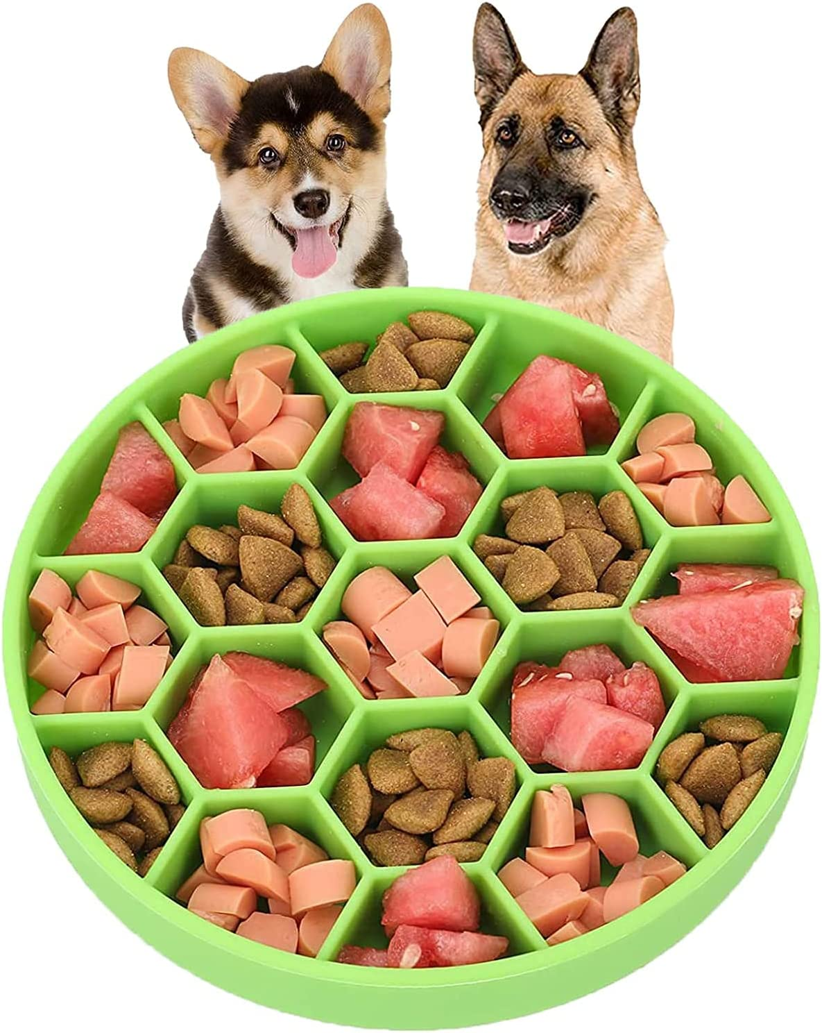 PEVHSVZ Pet Slow Feeder Bowl Super sale Financial sales sale Dogs Anti-Choke Anti-Slip for