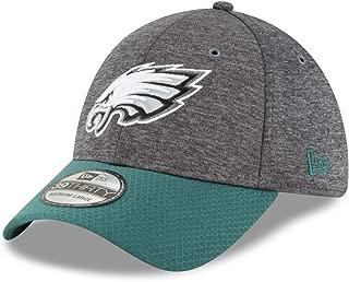 New Era Philadelphia Eagles NFL Sideline Home Graphite 39THIRTY Flex Hat – Heather Gray/Midnight Green