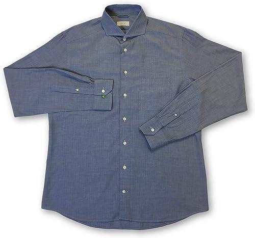 Eton Contemporary fit Shirt in bleu Herbaguebone - L