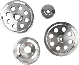 Lightweight Pulley Kit for Toyota 4AGE Celica Corolla GEO Prizm Levin AE95 AE101 Mr2 Polished 4pcs