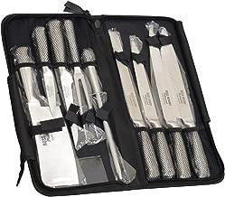 Nuevo juego de cuchillos profesionales Eclipse de 9 piezas, provisto de estuche resistente con cierre de cremallera