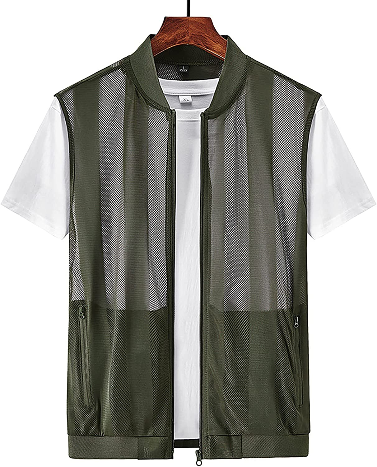 PEHMEA Men's Outdoor Mesh Fishing Breathable Vest Indianapolis Mall Pockets National products Multi