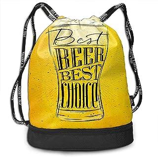 Mochila con Cordón Mochila con Cordón Sport Gym Sackpack Mochila con Cordón Mochila Sport Gym Sackpack Vintage Beer Shoulder Bags