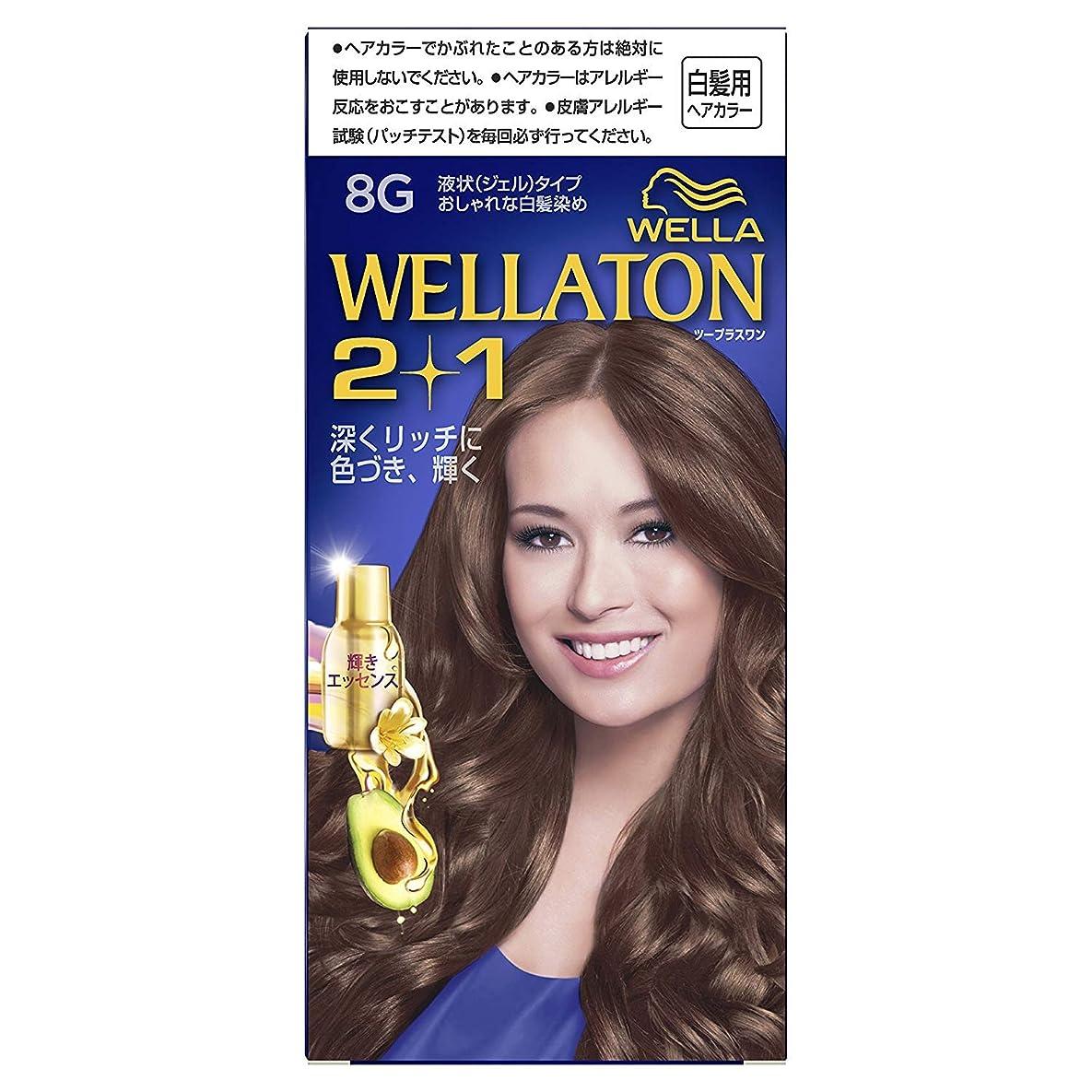 水を飲む弱点適度にウエラトーン2+1 白髪染め 液状タイプ 8G [医薬部外品] ×6個