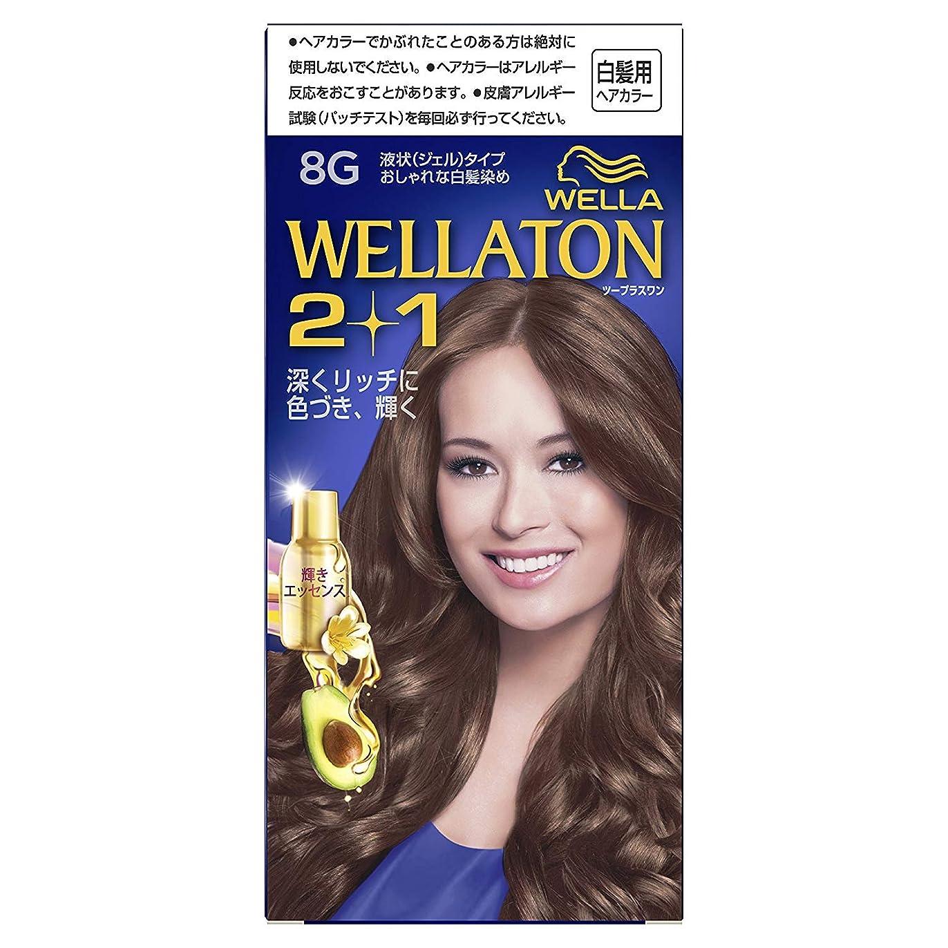 困惑した性能大きさウエラトーン2+1 白髪染め 液状タイプ 8G [医薬部外品] ×6個