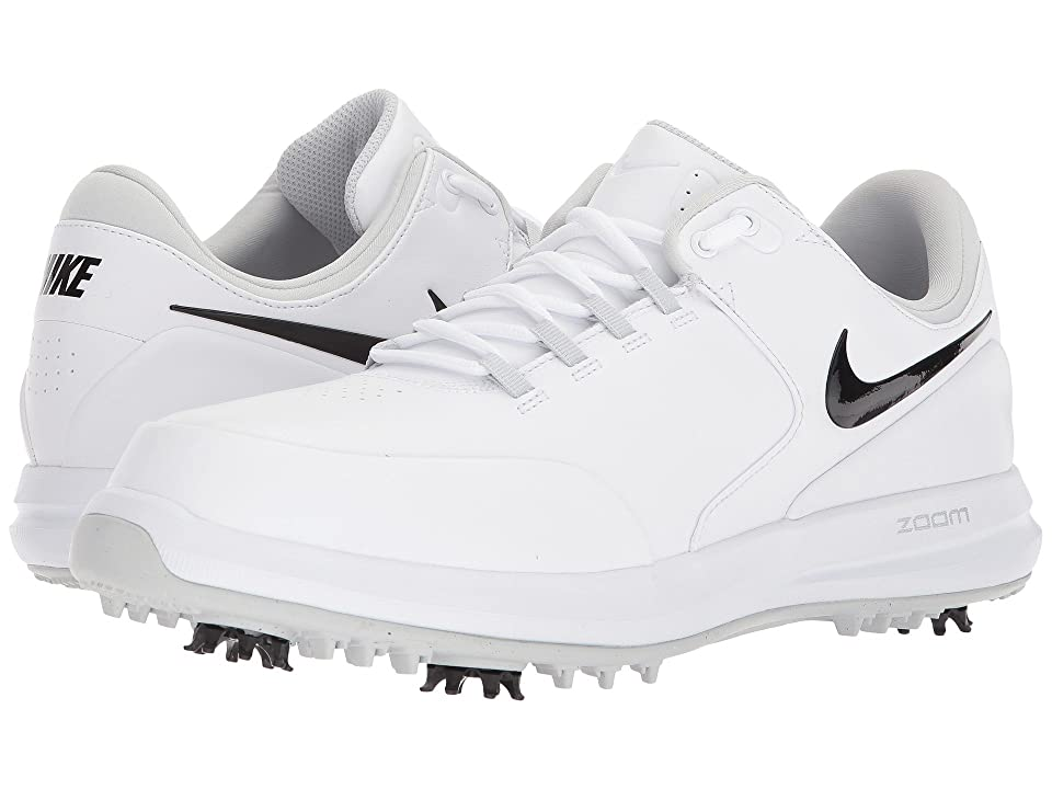 Nike Golf Air Zoom Accurate (White/Black/Metallic Silver/Pure Platinum) Men's Golf Shoes