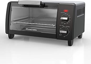Russell Hobbs RHTOV10BLK, Bake Expert Mini Toaster Oven, 4 Cooking Programs, Natural Convection, Black
