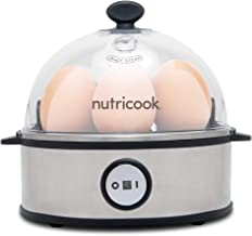 Nutricook Rapid Egg Cooker by Nutribullet, 360 Watts, Soft-boiled, Medium-boiled, Hard-boiled, Poached, Omelet and Scrambled, Easy and Quick One-Touch Operation, Auto-Shut Off, Silver, 2 Year Warranty