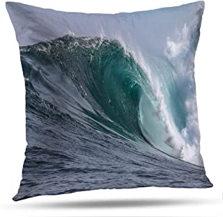 Tyfuty Wave Throw Pillow Covers, PillowcasesWaves Water Sea Big Wave Surf Town Colour Cushion Use for Living Room Bedroom Sofa Office 18 x 18 inch