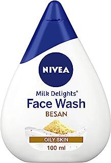 NIVEA Women Face Wash for Oily Skin, Milk Delights Besan, 100 ml