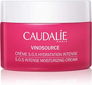 Caudalie VinoSource S.O.S. Intense Moisturizing Cream. Hydrate, Plump and Soothe Skin with a Clean, Rich Formula made with Grape Antioxidants. Non-Comedogenic, Safe for Sensitive Skin (50 Milliliters)
