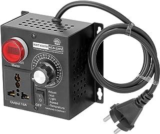 Leepesx AC 220V 4000W Regolatore compatto a tensione variabile Regolatore di velocità portatile Temperatura temperatura Di...