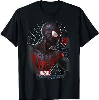 Marvel Puzzle Quest Spider-Man Profile Portrait T-Shirt