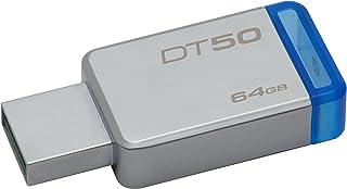 Pendrive DataTraveler 50 64GB, Kingston, Pendrives, Prata/Azul
