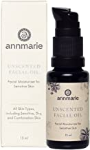 Annmarie Skin Care Herbal Facial Oil for Sensitive Skin - Unscented Facial Oil with Squalane, Sacha Inchi Oil + Camellia Seed Oil (15 Milliliters, 0.5 Fluid Ounces)