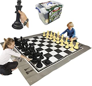 """EasyGoProducts EGP-TOY-018 EasyGo Giant Mat Chess Indoor Outdoor Large Yard Lawn Family Game –– Pieces Range from 6""""–10"""" I..."""
