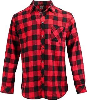 Allviper Camisa de Vestir de Manga Larga Informal de Algodón de Corte Regular para Hombre
